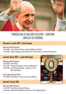Locandina Reliquia Paolo VI